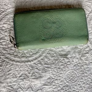 Turquoise Coach Wallet